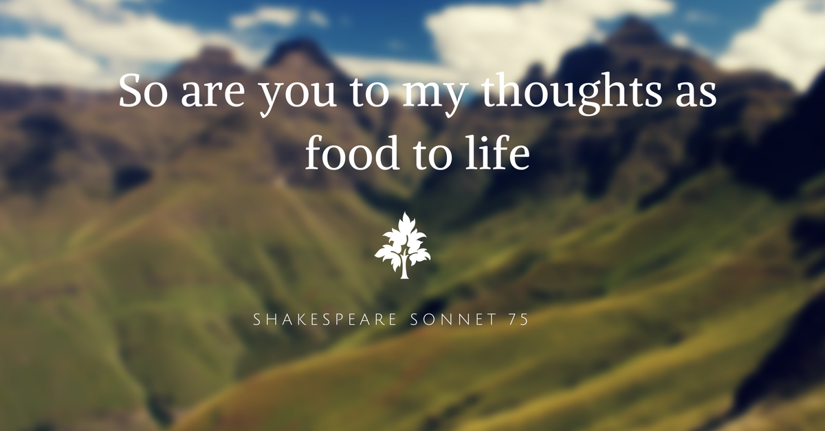 Shakespeare Sonnet 75 Analysis, So are you to my thoughts as food to life